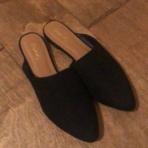 Quipid black slip on shoe